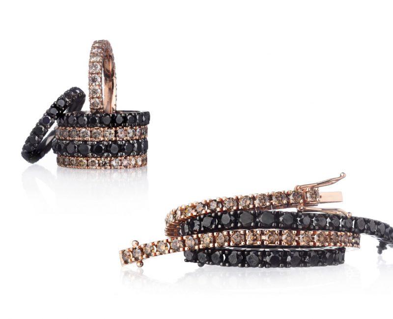 diamantarmband champagne svarta diamanter stockholm juvelia