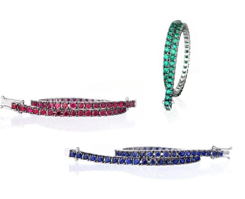 diamantarmband rubiner safirer smaragder juvelia