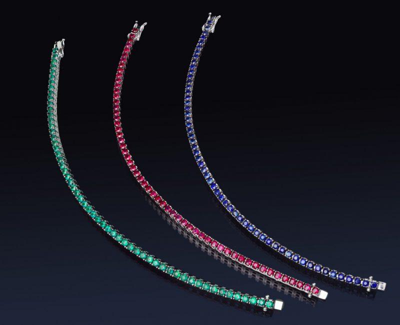 diamantarmband tennisarmband safirer rubiner smaragder juvelia