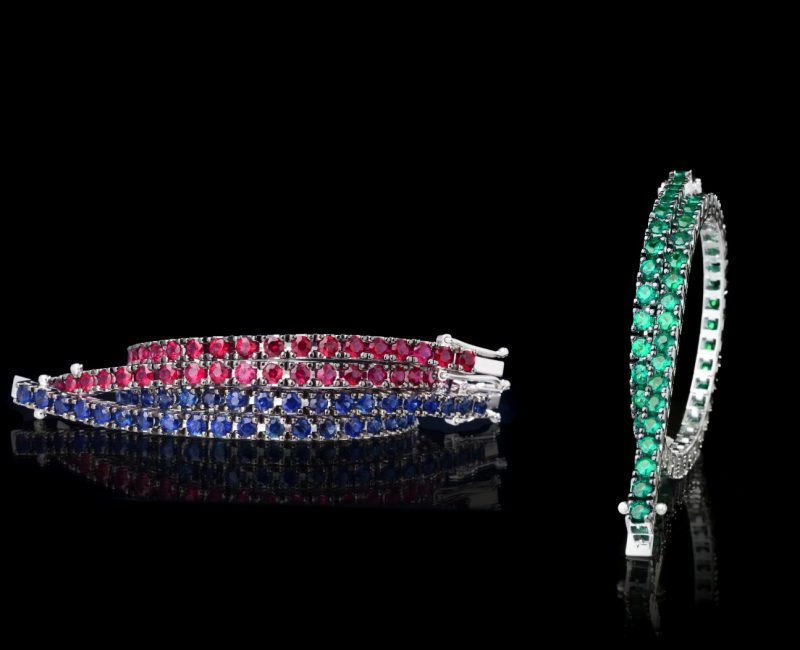 diamantarmband tennisarmband safirer rubiner smaragder juvelia stockholm östermalm