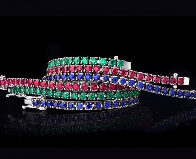 diamantarmband tennisarmband safirer rubiner smaragder juvelia stockholm