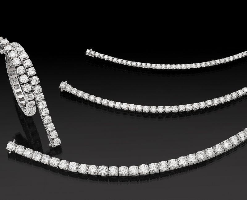 tennisarmband.se armband med diamanter i vitguld och roseguld